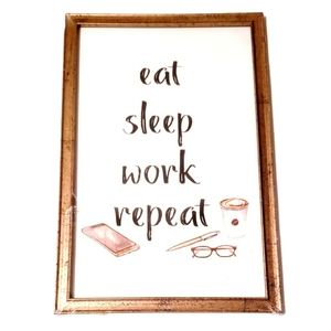 """Wall art - """" eat sleep work repeat"""""""